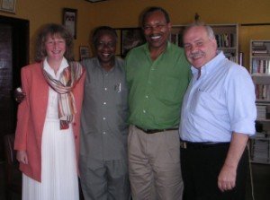 Susan, Bishop John, His Grace Emmanuel Kolini Archbishop of Rwanda, and Peter